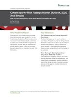 Cybersecurity Risk Ratings Market Outlook, 2020 And Beyond