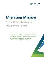 Migrating Mission: Whitepaper Critical SAP Applications to Amazon Web Services