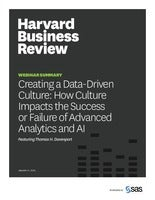 HBR: Creating a data-driven culture: How culture impacts the success or failure of advanced analytics and AI