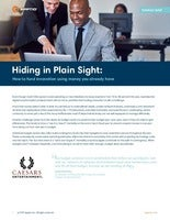 Hiding in Plain Sight: How to fund innovation using money you already have