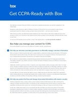 Get CCPA-Ready with Box