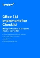 Office 365 Implementation Checklist