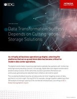 Data Transformation Success Depends on Cutting-edge Storage Solutions