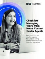 Checklist: Managing Work-from-Home Contact Center Agents