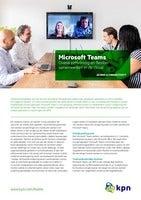 Microsoft Teams. Overal eenvoudig en flexibel samenwerken in de cloud