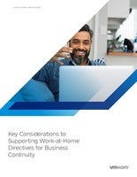 Key Considerations to Supporting Work-At-Home Directives for Business Continuity