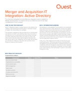 Merger and Acquisition IT Integration: Active Directory