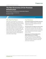 "Forrester report: ""The New Economics Of On-Premises Infrastructure"