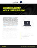 Worried About Ransomware? Don't Leave Your Recovery To Chance