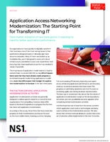 Application Access Networking Modernization: The Starting Point for Transforming IT