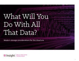 What Will You Do With All That Data?