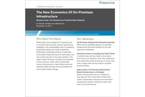 Forrester report on pay-as-you-go on-premises