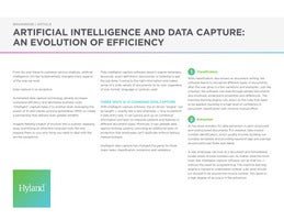 Artificial Intelligence and Data Capture