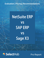 NetSuite ERP vs. SAP ERP vs. Sage X3― Expert Evaluations, Pricing & Recommendations