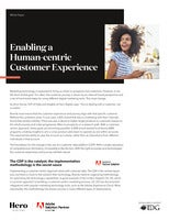 Enabling a Human-centric Customer Experience
