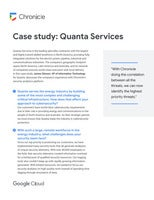 Chronicle Case Study: Quanta Services