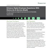 Enhance Digital Employee Experience With Device-As-A-Service