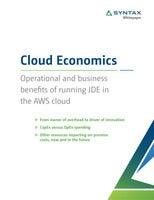 Cloud Economics Whitepaper: Operational and business benefits of running JDE in the AWS cloud