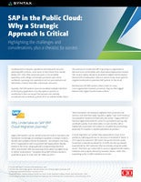 SAP in the Public Cloud: Why a Strategic Approach Is Critical