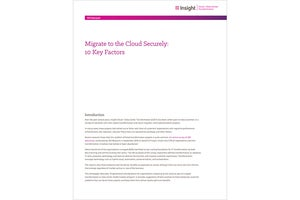 Migrate to the Cloud Securely: 10 Key Factors whitepaper