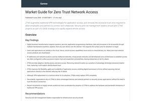 Gartner — Market Guide for Zero Trust Network Access
