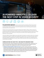 AI-Powered Analytics Deliver the Next Step in Video Security