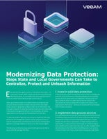 Modernizing Data Protection: Steps State and Local Governments Can Take to Centralize, Protect and Unleash Information