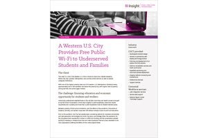 Case study — A Western U.S. City Provides Free Public Wi-Fi to Underserved Students and Families