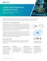 Zscaler Cloud Application Visibility & Control