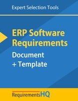 ERP Software Requirements Document & Template