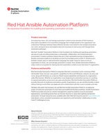 Red Hat Ansible Automation Platform: An expansive foundation for building and operating automation at scale
