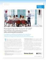 Navigating the Future of SAP: How IT leaders are accelerating innovation while maximizing ERP investments