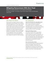 """Forrester report: """"Mitigating Ransomware With Zero Trust"""""""