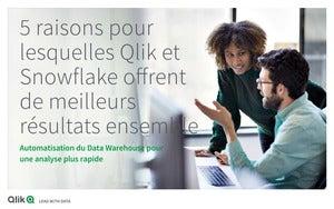5 raisons pour lesquelles Qlik et Snowflake offrent de meilleurs résultats ensemble Automatisation du Data Warehouse pour une analyse plus rapide