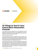 10 Things to Test in Your Future Next-Generation Firewall