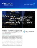 Critical Event Management Solution Brief