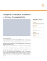 Pandemic Ready: How BlackBerry Is Keeping Employees Safe Case Study