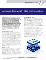 Anthos on Bare Metal – Edge Implementation