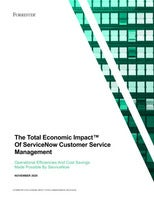 Forrester Study: The Total Economic Impact of ServiceNow Customer Service Management