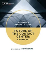 CCW Market Study – Future of the Contact Center: A Forecast