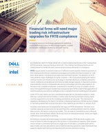 Financial Firms Will Need Major Trading Risk Infrastructure Upgrades for FRTB Compliance