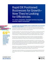Rapid DX Positioned Businesses for Growth— Now They're Looking for Efficiencies