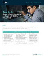Global software company contracts with CBTS for Virtual CISO