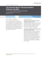 The Forrester Wave™: Security Analytics Platforms, Q4 2020