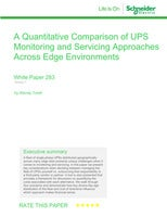 A Quantitative Comparison of UPS  Monitoring and Servicing Approaches Across Edge Environments