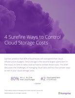 4 Surefire Ways to Control Cloud Storage Costs
