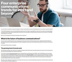 Four enterprise communications trends for 2021 and beyond