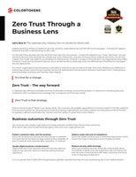 Zero Trust Through a Business Lens