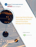Balancing Hybrid Storage Technology as Part of a Hybrid Cloud Data Management Strategy