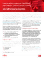 Improving Outcomes and Capabilities in Healthcare with Document Scanning